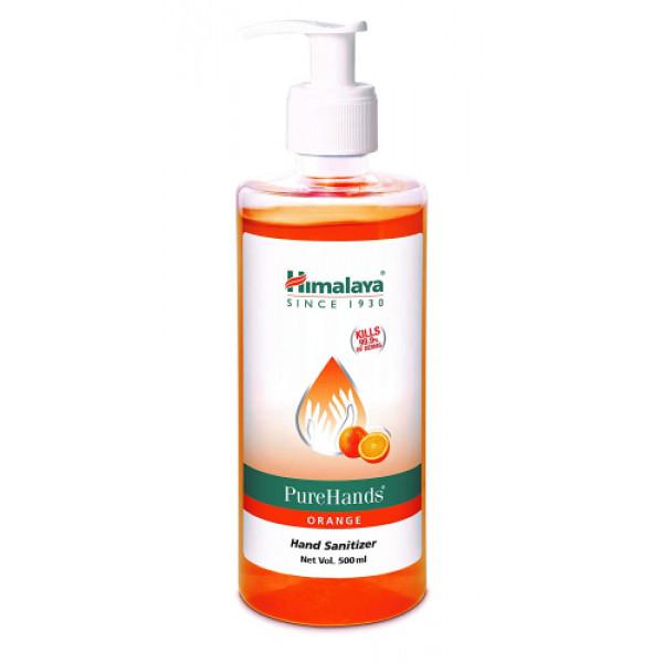 Himalaya PureHands Orange Hand Sanitizer 60% Alcohol, 500ml (Kills 99.9% Germs)