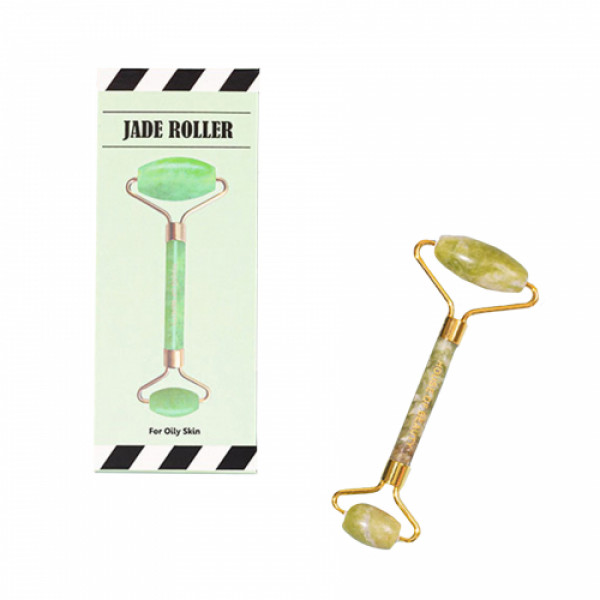 House of Beauty Jade Roller Green