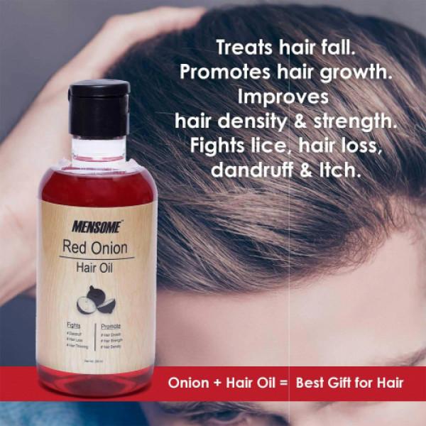 Mensome Onion Hair Oil and Onion Hair Shampoo, 200ml