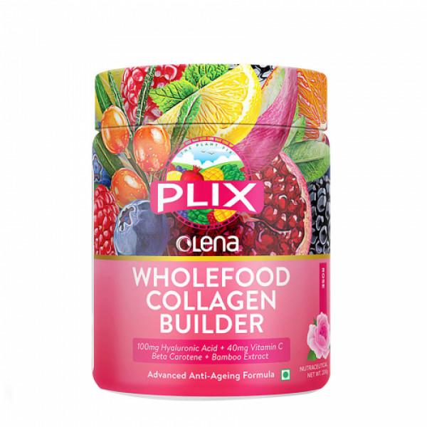 Plix Olena Plant-Based Wholefood Collagen Builder Rose Flavour, 200gm