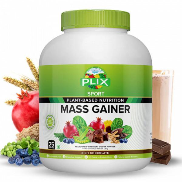 Plix Sport Plant Based Mass Gainer Rich Chocolate Flavour, 2.5kg