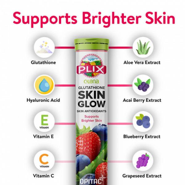 Plix Olena Glutathione Skin Glow Effervescent, 15 Tablets