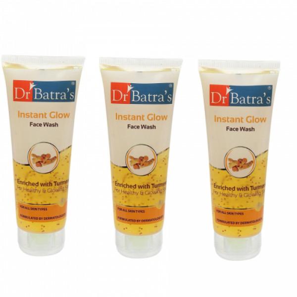 Dr Batra's Instant Glow Facewash, 100ml (Pack Of 3)