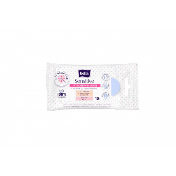 Bella Intimate Care Wet Wipes, 10 Pieces