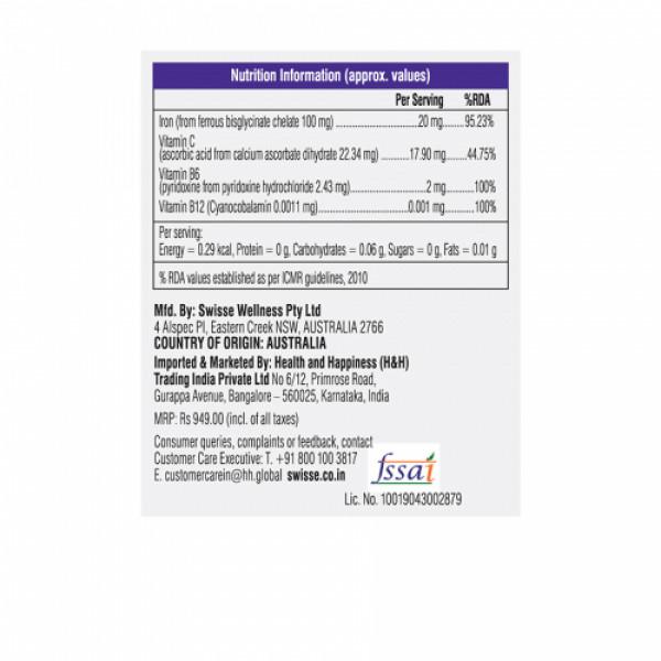 Swisse Ultiboost Iron Supplement, 30 Tablets
