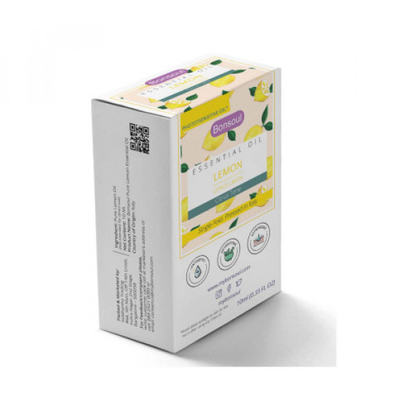 Bonsoul Pure Lemon Peel Essential Oil,10ml