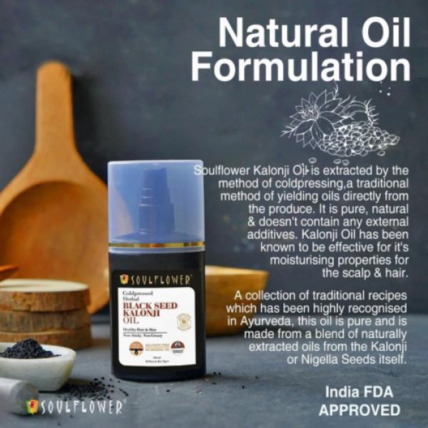 Soulflower Herbal Black Seed Kalonji Oil, 120ml