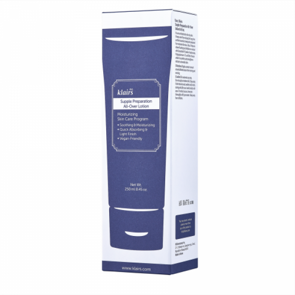Klairs Supple Preparation All Over Lotion, 250ml