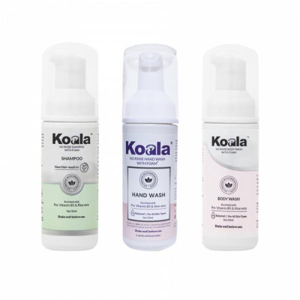 Koala No Rinse Shampoo With Body Wash And Hand Wash Combo