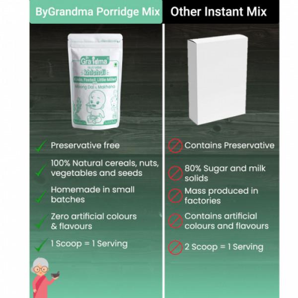 ByGrandma Kodo, Foxtail, Little Millet With Moong Dal & Makhana Baby Porridge Mix, 280gm