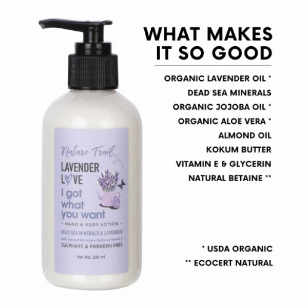 Nature Trail Lavender Love Hand and Body Lotion, 200ml