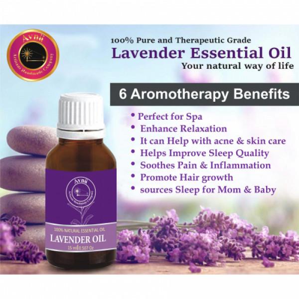 Avnii Organics Natural Lavender Essential Oil, 15ml