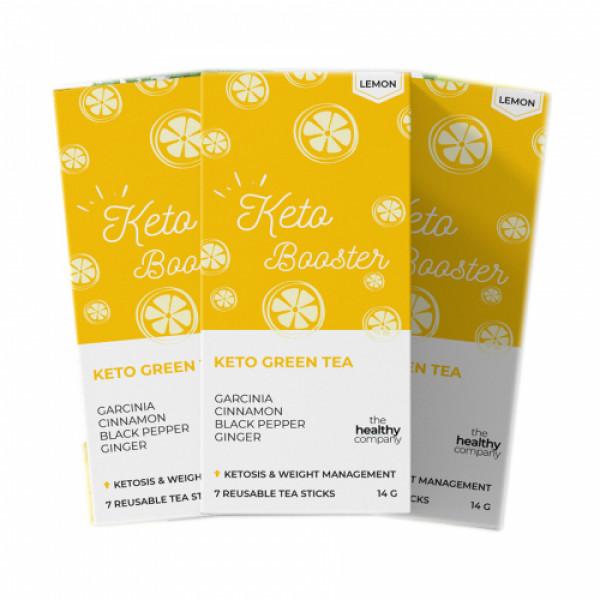 The Healthy Company One Month Keto Green Tea, 56 Tea Sticks