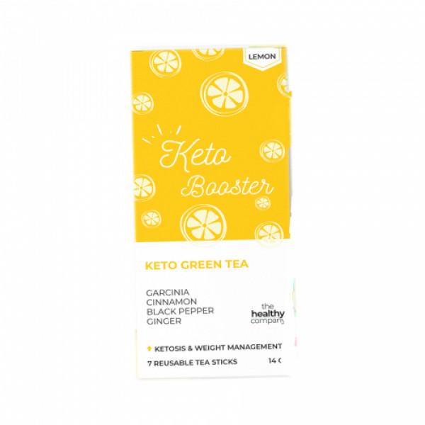 The Healthy Company One Week Keto Green Tea , 14 Tea Sticks