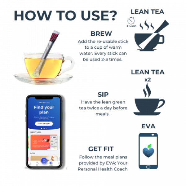 The Healthy Company Lean Green Tea With Lean Bar - One Month Weight Loss (Mint)