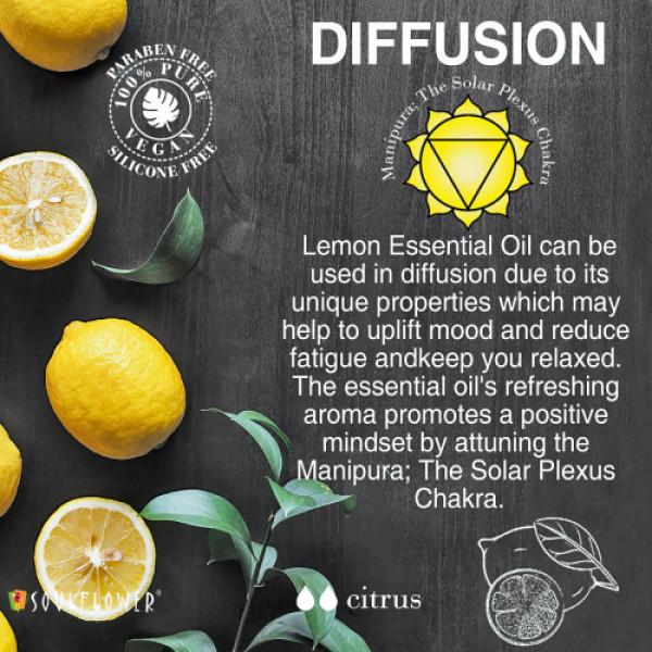 Soulflower Lemon Essential Oil, 15ml