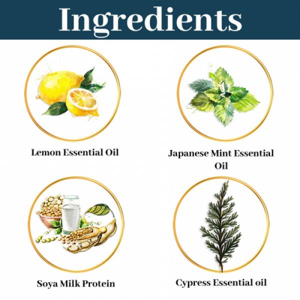 Seer Secrets Lemon Cypress Japanese Mint Soy Milk Enzyme Body Cleanser, 200ml