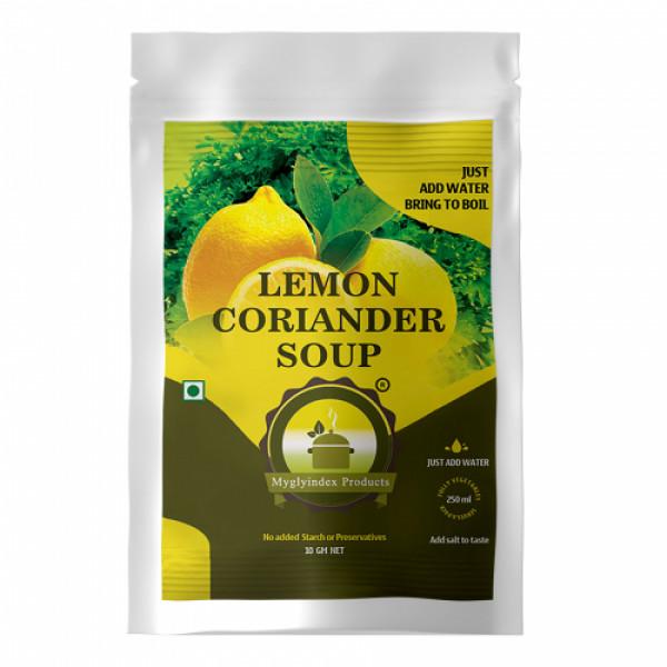 Myglyindex Lemon coriander Soup, 10gm (Pack Of 10)