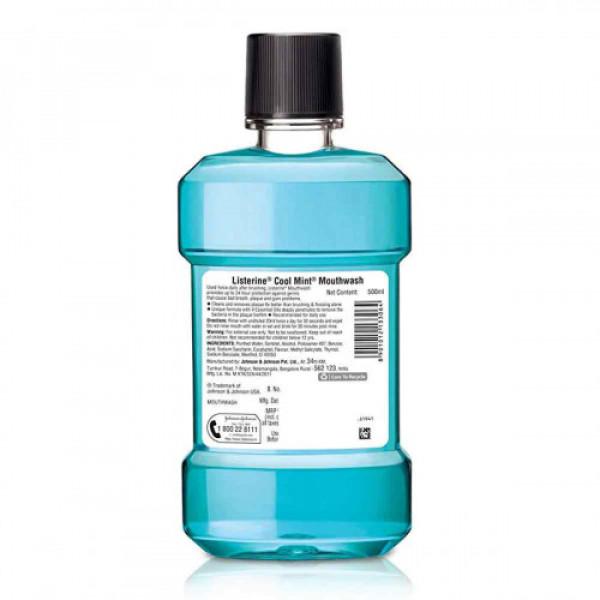 Listerine Cool Mint Mouthwash, 500 ml