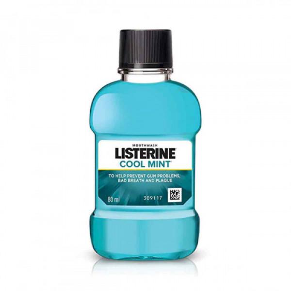 Listerine Cool Mint Mouthwash, 80ml