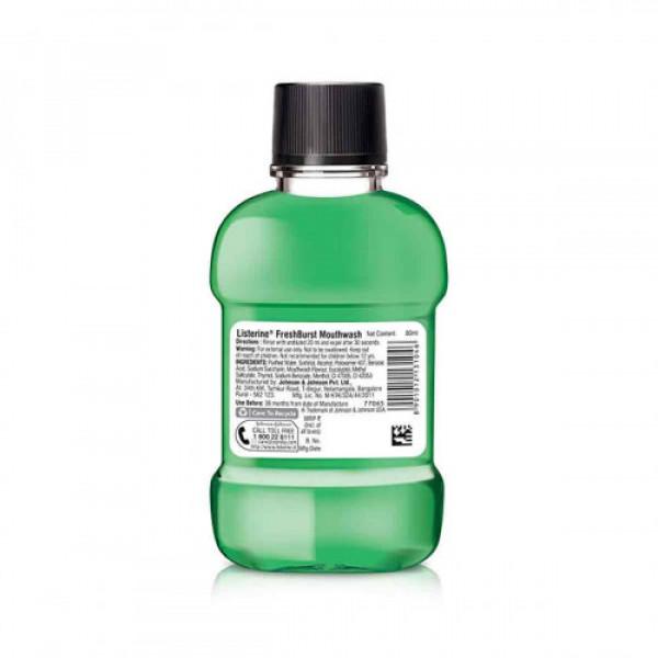 Listerine Fresh Burst Mouthwash, 80ml