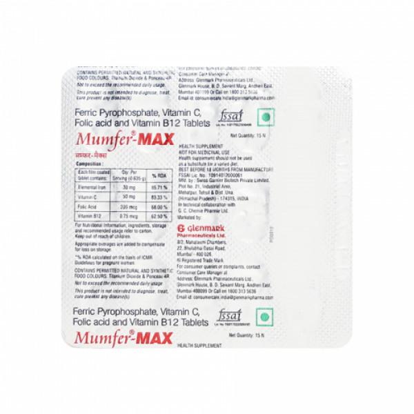 Mumfer-Max, 15 Tablets