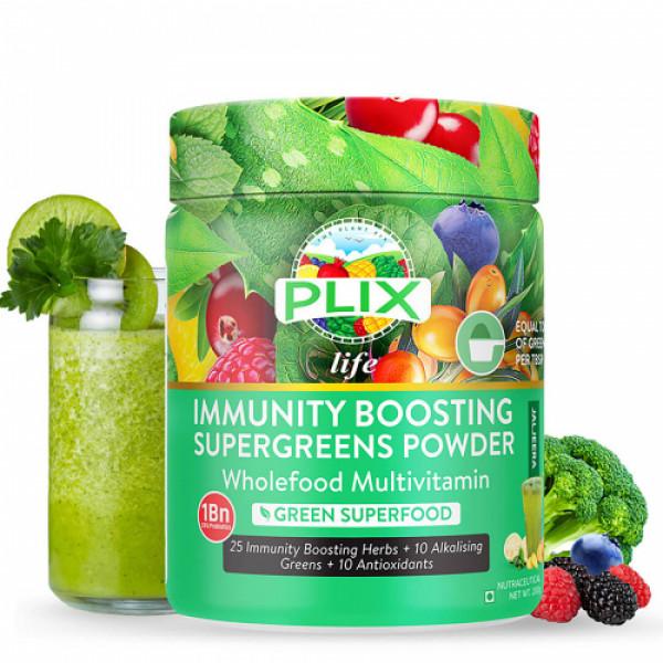Plix Life Immunity Boosting Supergreens Powder, 200gm