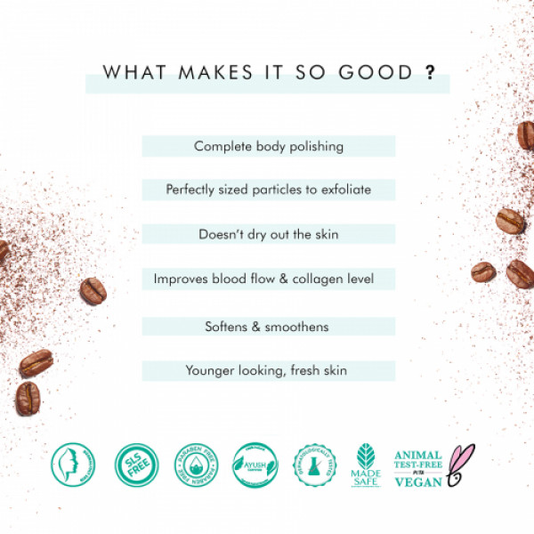 mcaffeine Naked And Raw Tan Removal Coffee Body Scrub, 100gm