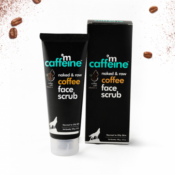 mcaffeine Naked And Raw Tan Removal Coffee Face Scrub, 100gm