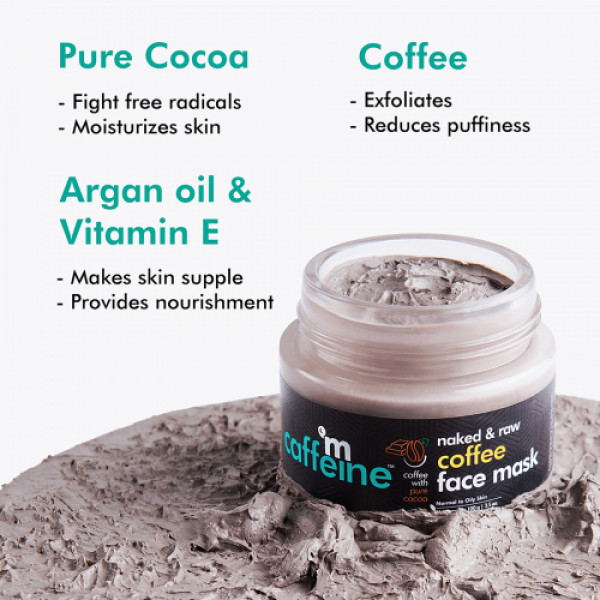 mcaffeine Naked And Raw Tan Removal Coffee Face Mask, 100gm