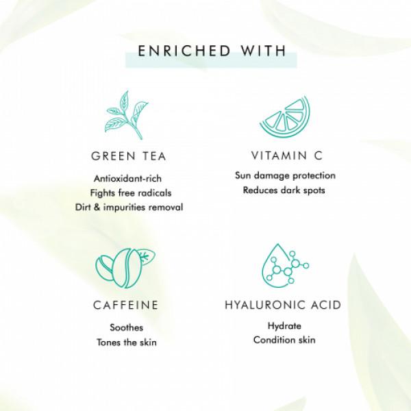 mCaffeine Naked Detox Dirt Removal Green Tea Face Wash, 100ml