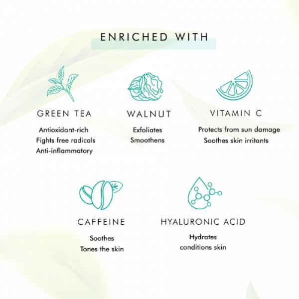 mCaffeine Naked Detox Exfoliating Green Tea Face Scrub, 100gm