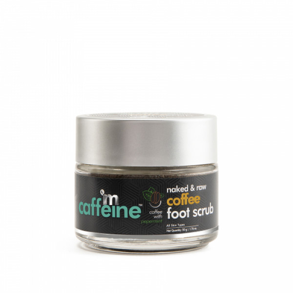 mCaffeine Naked And Raw Dead Skin Removal Coffee Foot Scrub, 50gm