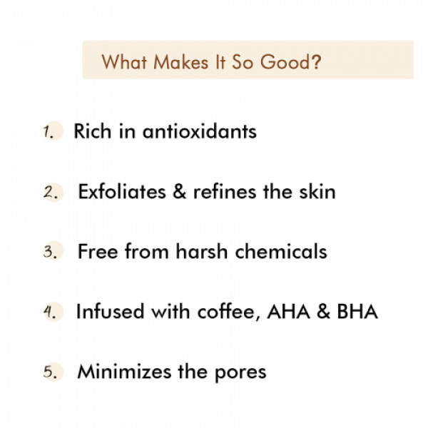 mCaffeine Espresso Coffee Face Mask with Natural AHA & BHA for Exfoliation & Pore Tightening, 100gm