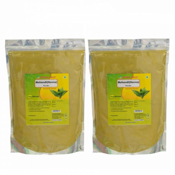 Herbal Hills Mehandi Powder, 1Kg ( Pack Of 2)