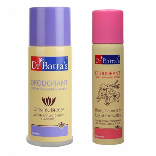 Dr Batra's Men's and Women's Deodorant Combo Pack