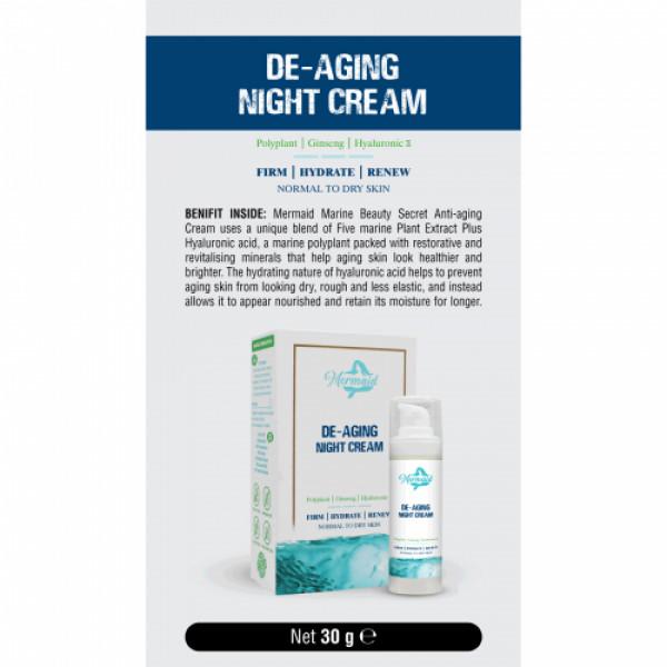 Mermaid De-Aging Night Cream, 30gm
