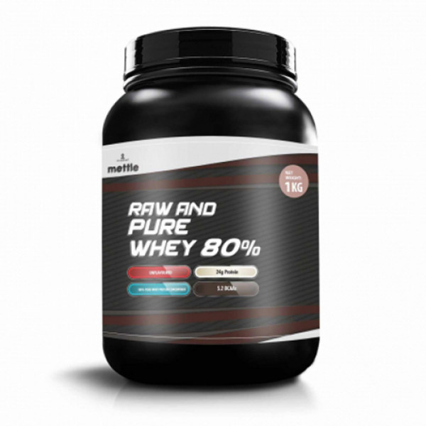 Mettle Raw And Pure Whey 80%, 1kg