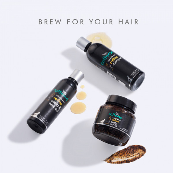 mCaffeine Limited Edition Coffee Brew Hair Care Gift Kit, 700ml with Hair-Loving Ingredients