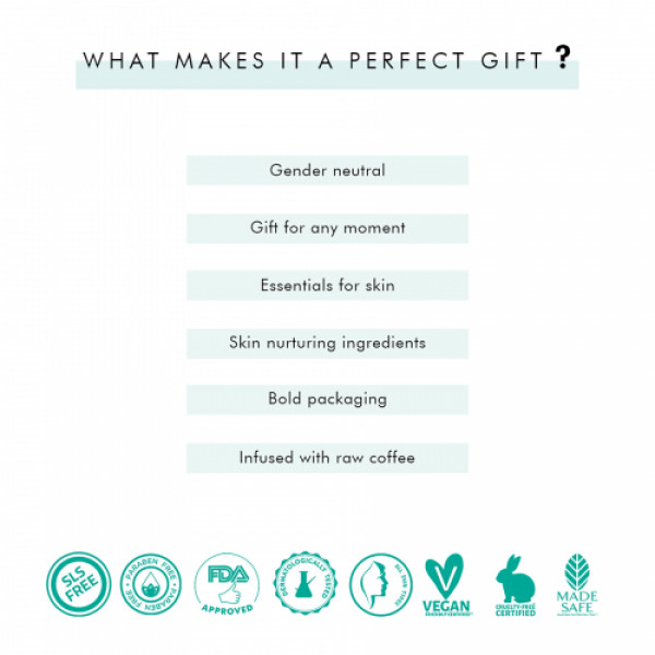 mCaffeine Be Date Ready Body Polishing Gift Kit, 350gm