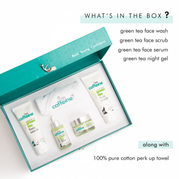 mCaffeine Green Tea Quick Face Detox Kit, 290gm