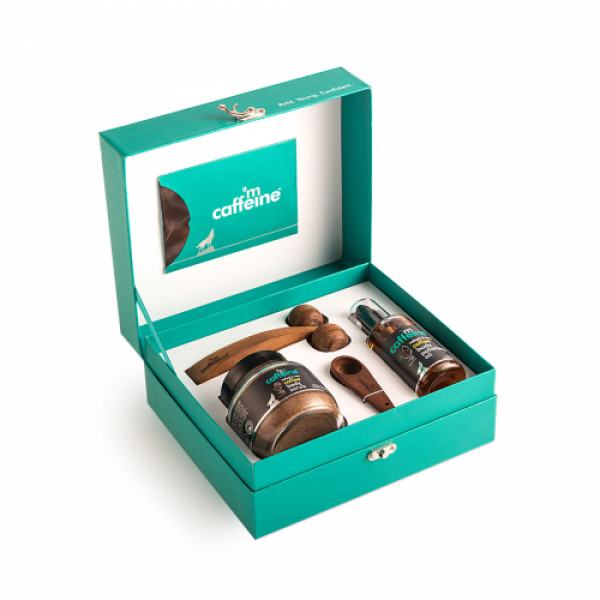 mCaffeine Coffee De-Stress Skin Care Gift Kit, 200ml