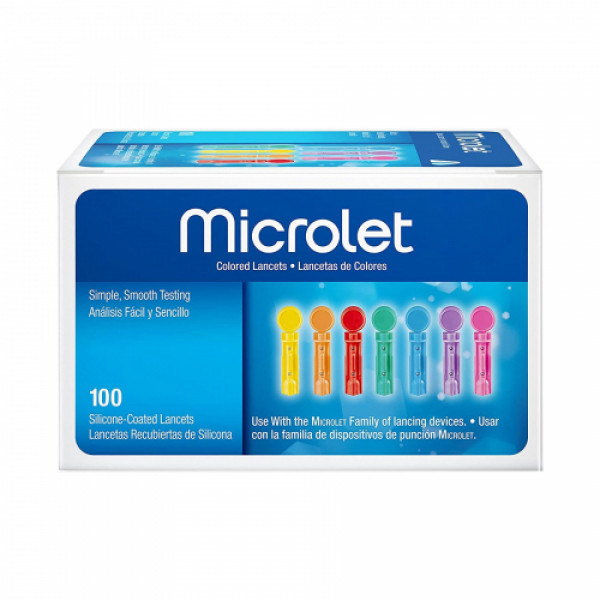 Microlet Colored Lancets, 100's