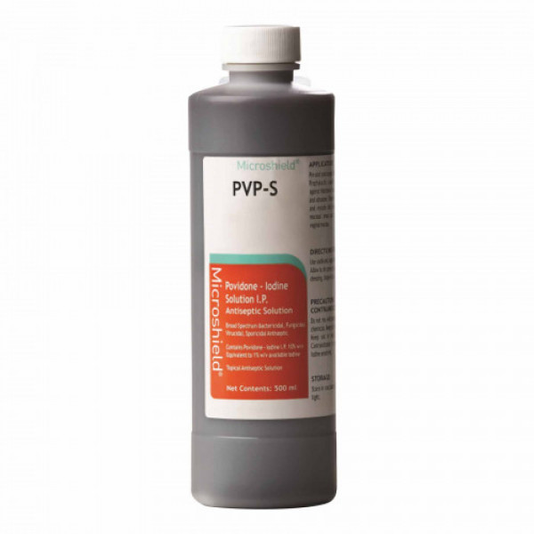 Microshield PVP - S Antiseptic Disinfectant Solution, 500ml