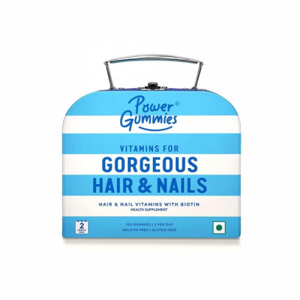 Power Gummies Hair Vitamins With Biotin, 120 Gummies (2 Month Pack)