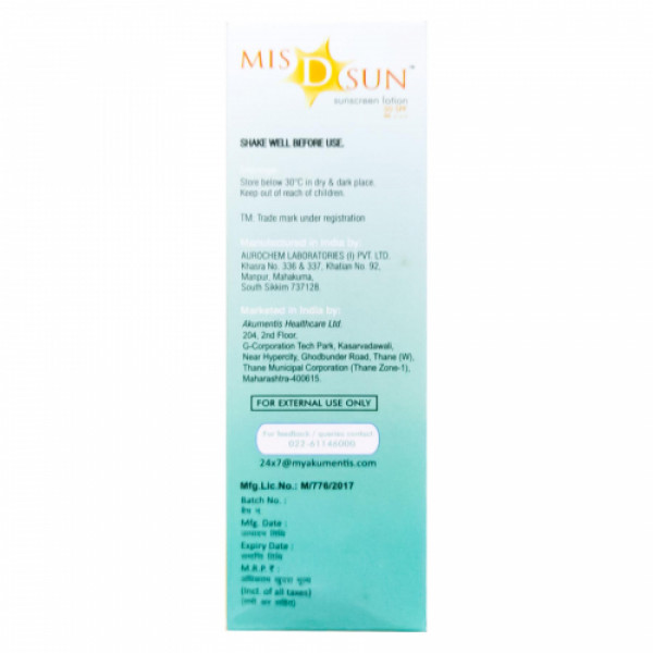 MIS D Sun Sunscreen Lotion SPF 50, 50ml