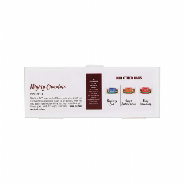 Rine Mighty Chocolate Protein Bar, 50gm (Pack Of 6)