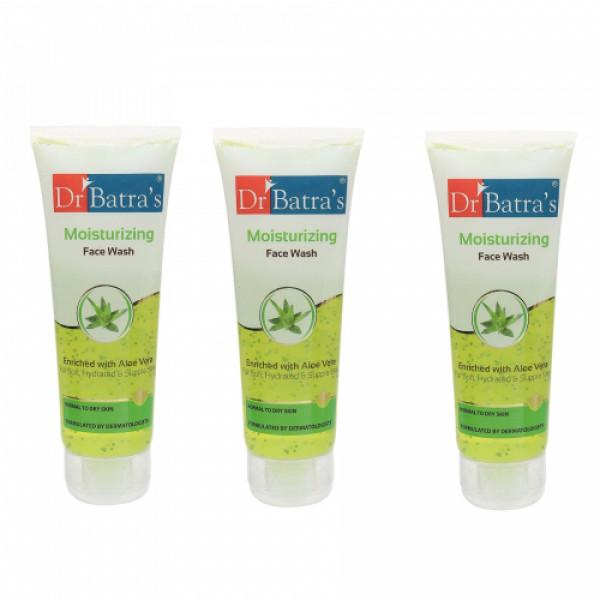 Dr Batra's Moisturizing Face Wash, 100ml (Pack Of 3)