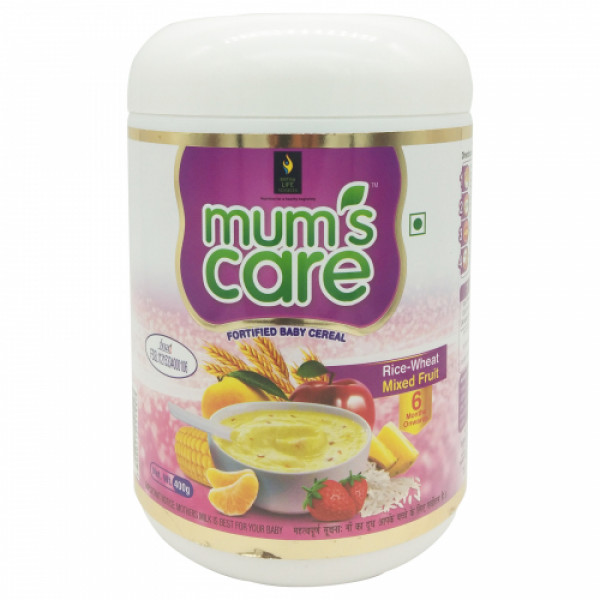 Mum's care rice wheat mixed fruit fortified baby cereal, 400gm