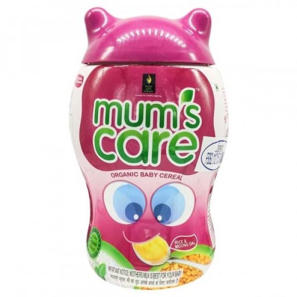 Mum's Care Rice and Moong Dal Organic Baby Cereal, 300gm